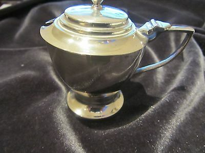 Antique Solid Silver Mustard Pot with glass liner