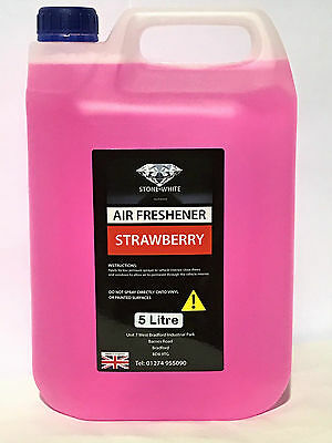 Stone White Strawberry Concentrate Liquid Car Air Freshener Spray 5L