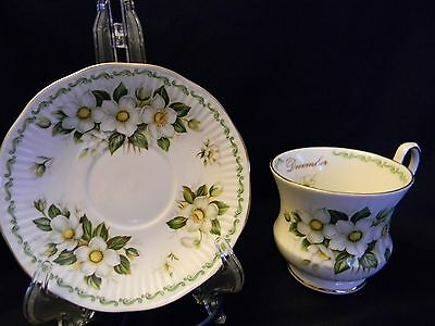 """Vintage Queen's/rosina Co Ltd """"special Flowers"""" Series Cup/saucer - December"""