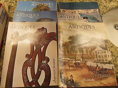 6 Issues 1970's Antiques , The Magazine - 1974 1975 1979