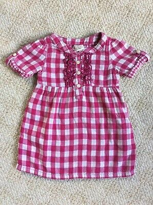 Old Navy - Baby Girl Dress - Flannel Gingham Print - Pink - 6-12 months