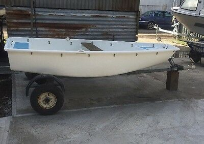 8ft Pram Dinghy/Boat/Tender With Recondition Road Trailer