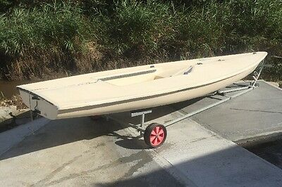 Laser Dinghy Hull Only,No Parts. Launching Trolley Available Separately