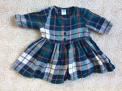Old Navy Baby Girl Flannel Plaid Dress - Fit & Flare - 3-6 months - Excellent