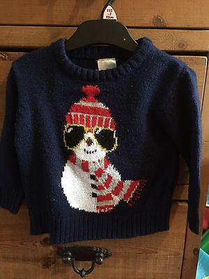 Boys Snowman Christmas Jumper Age 12-18 Months