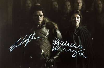 Richard Madden Michelle Fairley (Stark) Signed 8X12 Photo Game Of Thrones