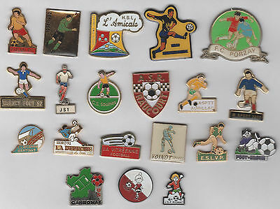 Lot de 20 Pin's Football - Differents Clubs
