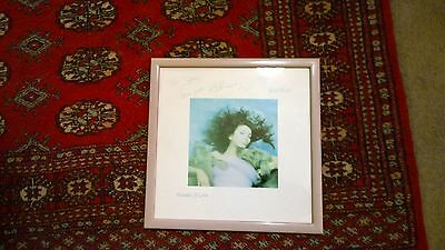Kate Bush Autographed  hand SIGNED Hounds Of Love Record Album framed