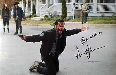 Andrew Lincoln (Rick Grimes) Original Signed 8X12 Photo Walking Dead