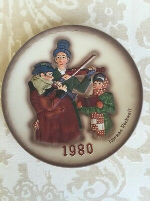 1980 Dave Grossman Norman Rockwell First Limited Edition Christmas Plate