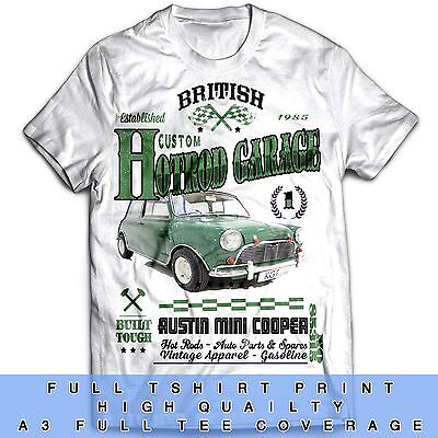 Hot Rod Cooper Muscle Car Motorcycle Vintage Classic 70s 80s T Shirt
