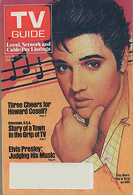 1983 TV GUIDE This Week This Is Elvis on NBC April 9-15