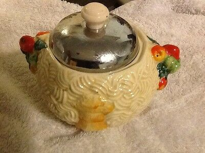 clarice cliff  celtic harvest  marmalade jar original and rare with lid