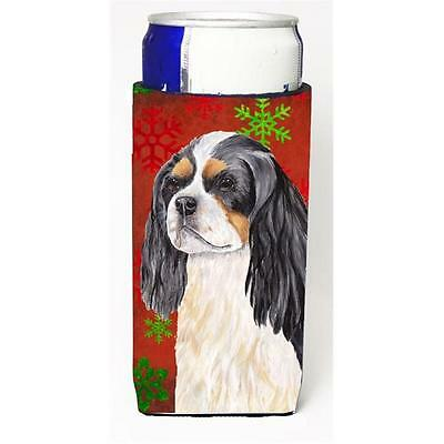 Cavalier Spaniel Red & Green Snowflakes Holiday Christmas Michelob Ultra s Fo...