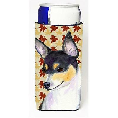 Chihuahua Fall Leaves Portrait Michelob Ultra s For Slim Cans 12 oz.