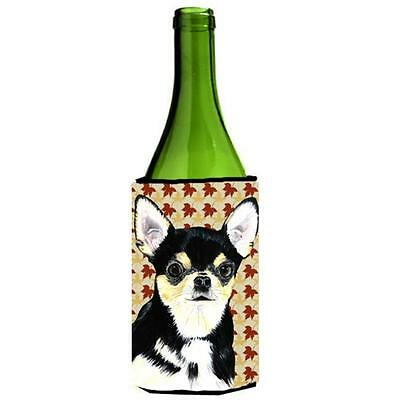 Carolines Treasures Chihuahua Fall Leaves Portrait Wine bottle sleeve Hugger