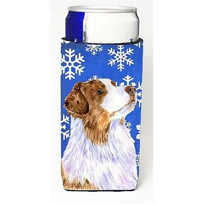 Australian Shepherd Winter Snowflakes Holiday Michelob Ultra bottle sleeves F...