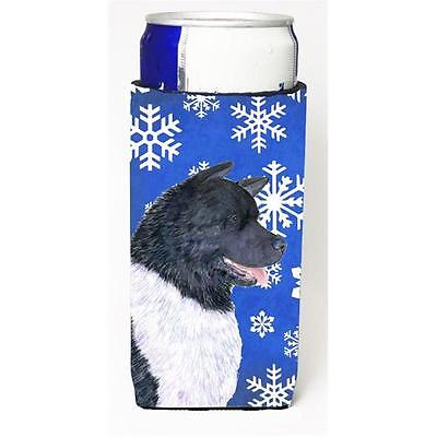 Akita Winter Snowflakes Holiday Michelob Ultra bottle sleeves For Slim Cans 1...