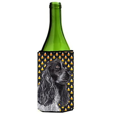 Cocker Spaniel Halloween Candy Corn Wine bottle sleeve Hugger