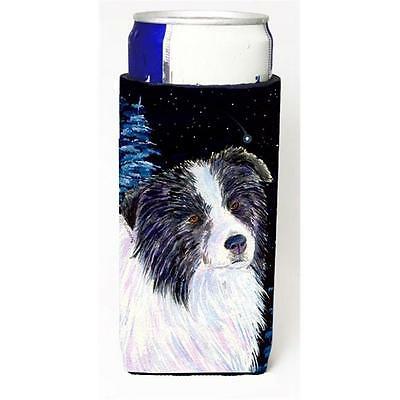 Starry Night Border Collie Michelob Ultra bottle sleeves For Slim Cans 12 oz.