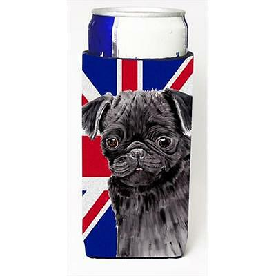 Pug With English Union Jack British Flag Michelob Ultra bottle sleeves For Sl...