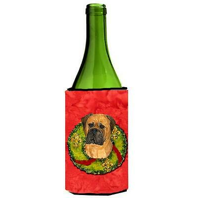 Carolines Treasures Bullmastiff Cristmas Wreath Wine bottle sleeve Hugger