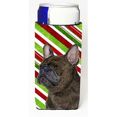 French Bulldog Candy Cane Holiday Christmas Michelob Ultra bottle sleeves For...