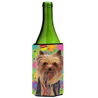 Carolines Treasures Yorkie Easter Eggtravaganza Wine Bottle Hugger 24 oz.