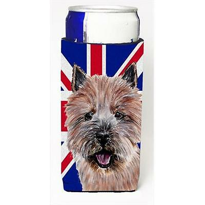 Norwich Terrier With English Union Jack British Flag Michelob Ultra bottle sl...