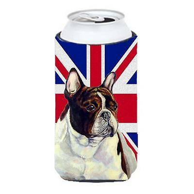 French Bulldog With English Union Jack British Flag Tall Boy bottle sleeve Hu...