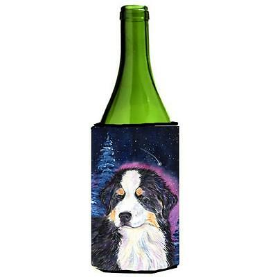 Starry Night Bernese Mountain Dog Wine bottle sleeve Hugger 24 oz.