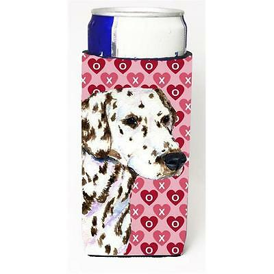Dalmatian Hearts Love And Valentines Day Portrait Michelob Ultra bottle sleev...