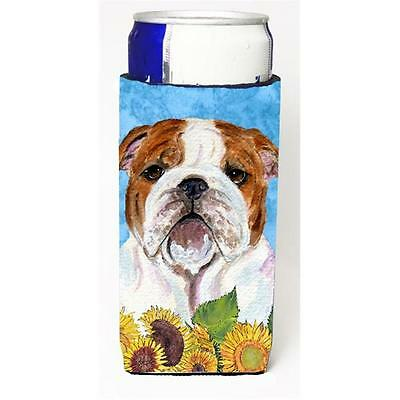 Bulldog English In Summer Flowers Michelob Ultra bottle sleeves For Slim Cans...