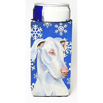 Great Dane Winter Snowflakes Holiday Michelob Ultra bottle sleeves For Slim C...