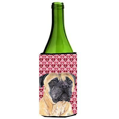 Mastiff Hearts Love and Valentines Day Portrait Wine bottle sleeve Hugger