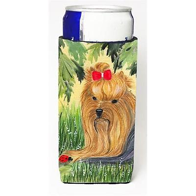 Carolines Treasures Yorkie Michelob Ultra bottle sleeves For Slim Cans 12 oz.