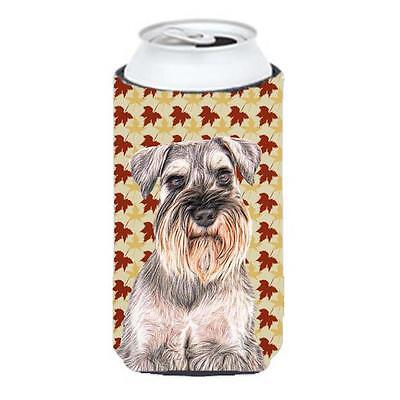 Carolines Treasures Fall Leaves Schnauzer Tall Boy bottle sleeve Hugger