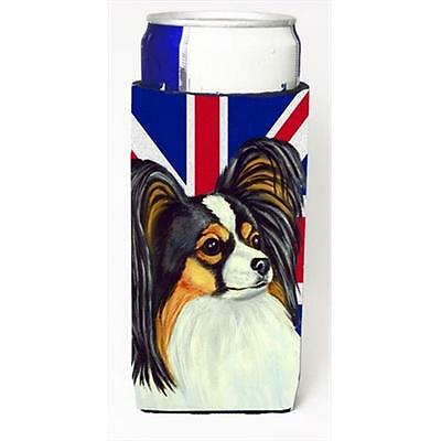 Papillon With English Union Jack British Flag Michelob Ultra bottle sleeves F...