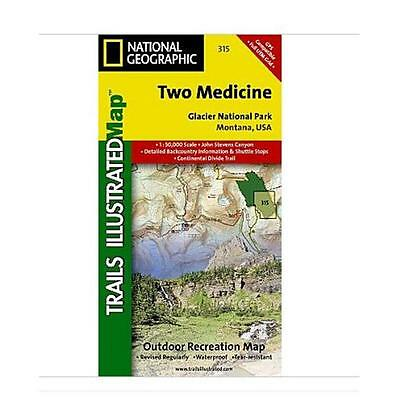 National Geographic Maps TI00000315 Two Medicine-Glacier National Park