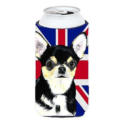 Chihuahua With English Union Jack British Flag Tall Boy bottle sleeve Hugger ...