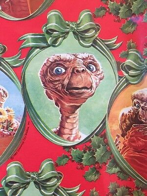 Vintage 1982 ET The Extraterrestrial Universal Studios Christmas Wrapping Paper