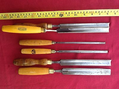 Job Lot of Vintage Pairing Gouges Chisels. Good UK Makers in Good Condition.