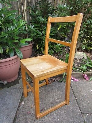 Vintage Mid Century Wooden Childrens School Chair