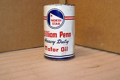 Vintage North Star William Penn Heavy Duty Motor Oil One Quart Can White