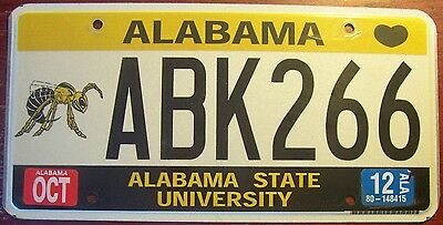 2012 Alabama State Universityspecial License Plate College Hornets Lady Hornets