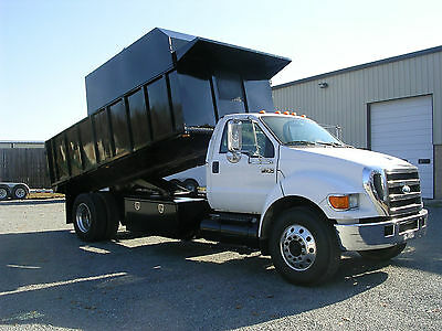 2007 Ford F750 non CDL 5.9 Cummins automatic 16ft Landscape body 53k miles