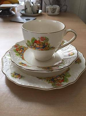 Very old pretty vintage china trio, cup, saucer and plate by Empire England