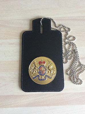 Neck Chain ID Card Holder With generic Coat of Arms Badge