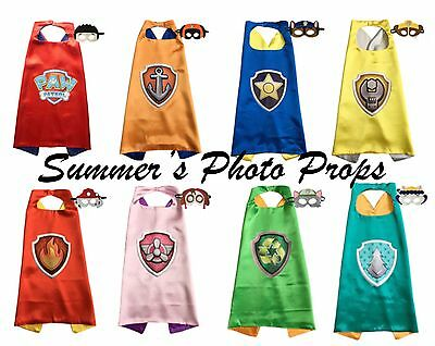Paw Patrol Logo Cape and Mask