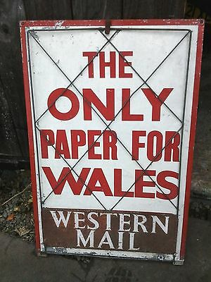 Vintage Sign Western Mail (The Only Paper For Wales)